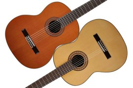 Egles vai ciedra koka klasisko ģitāru?